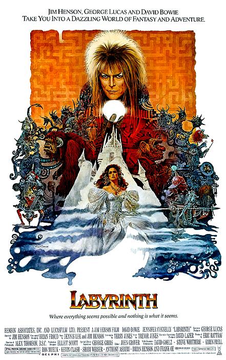 Labyrinth, David Bowie, Jennifer Print by Everett