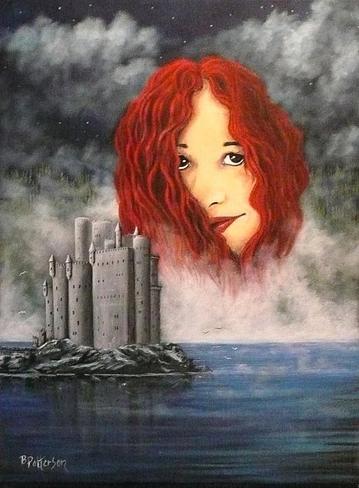 Lady Of The Lake Print by Bob Patterson