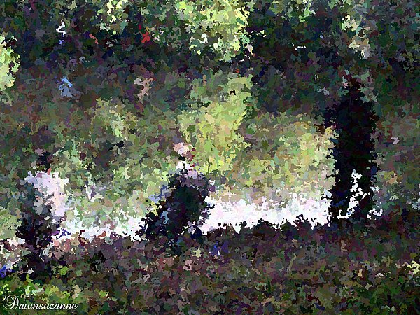 Lake Fishing Impressionist Painting Print by Dawn Hay
