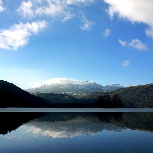 Lake In Auvergne Print by Bernard Jaubert