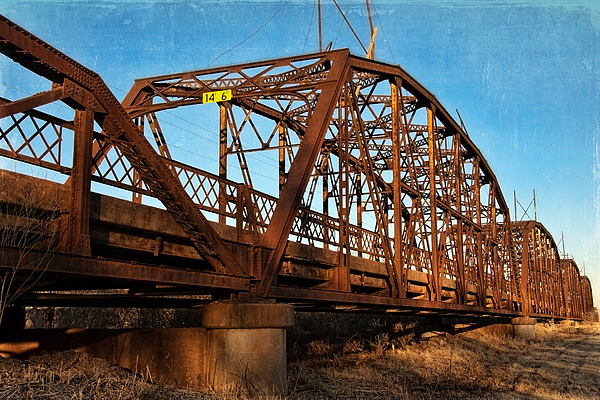 Lake Overholser Bridge Print by Lana Trussell