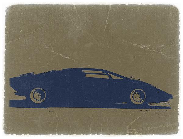 Lamborghini Countach Print by Naxart Studio