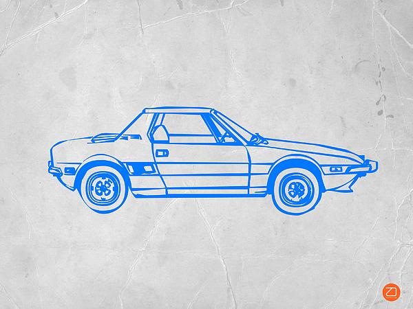 Lancia Stratos Print by Naxart Studio