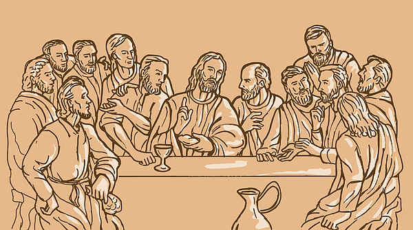 last supper of Jesus Christ Print by Aloysius Patrimonio
