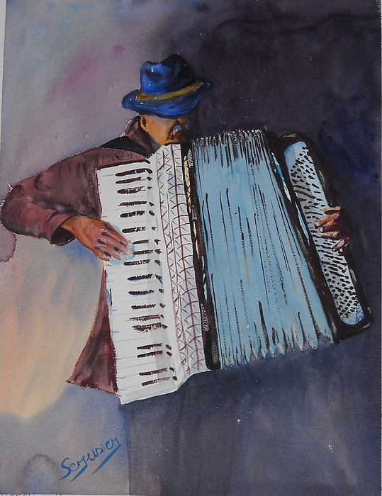 Le Vieil Accordeoniste  The Old Accordion Print by Dominique Serusier