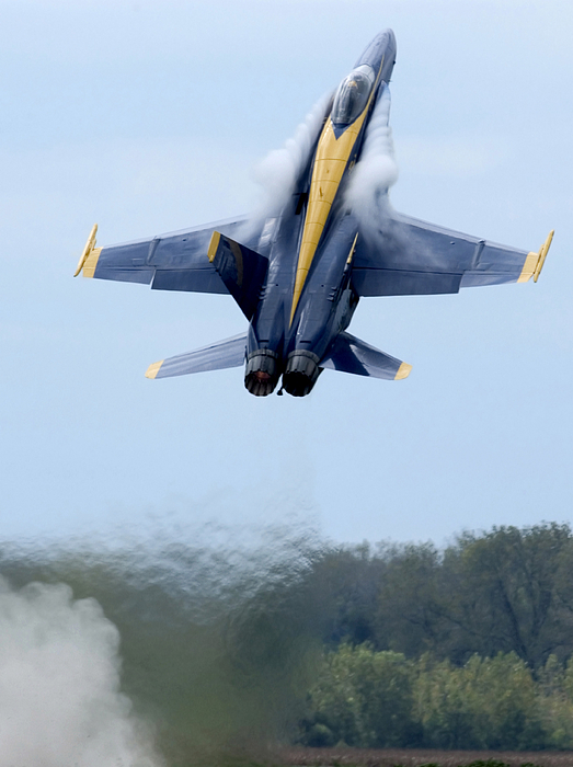 Lead Solo Pilot Of The Blue Angels Print by Stocktrek Images