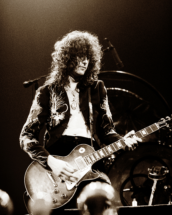 Led Zeppelin - Jimmy Page Print by Chris Walter
