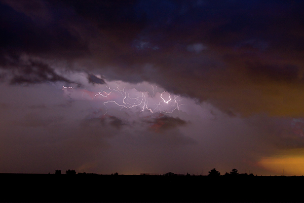 Lightning In The Sky Print by James BO  Insogna