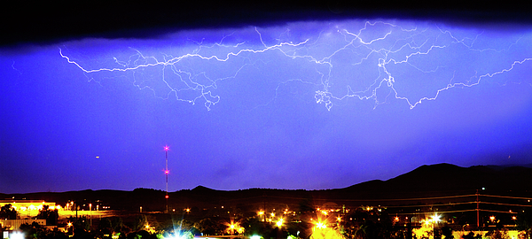 Lightning Over Loveland Colorado Foothills Panorama Print by James BO  Insogna