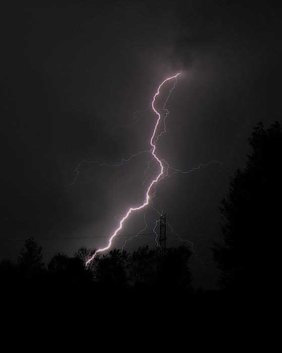 Lightning Strikes Print by Scott Hovind