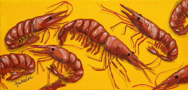 Lil Shrimp Print by JoAnn Wheeler
