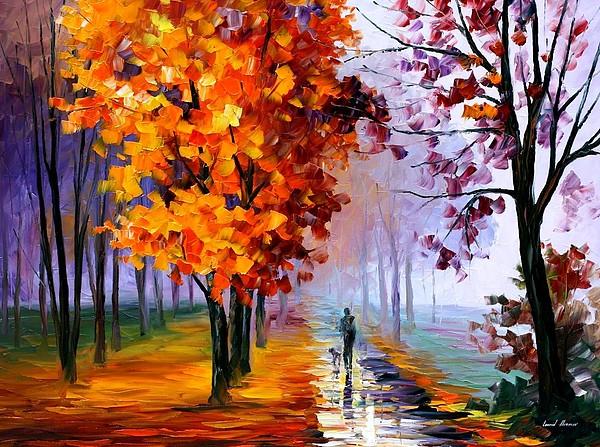 Lilac Fog Print by Leonid Afremov