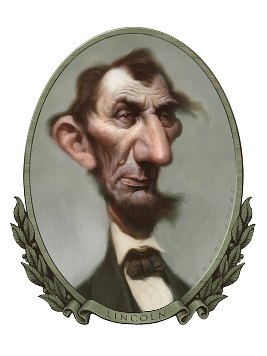 Lincoln Print by Court Jones