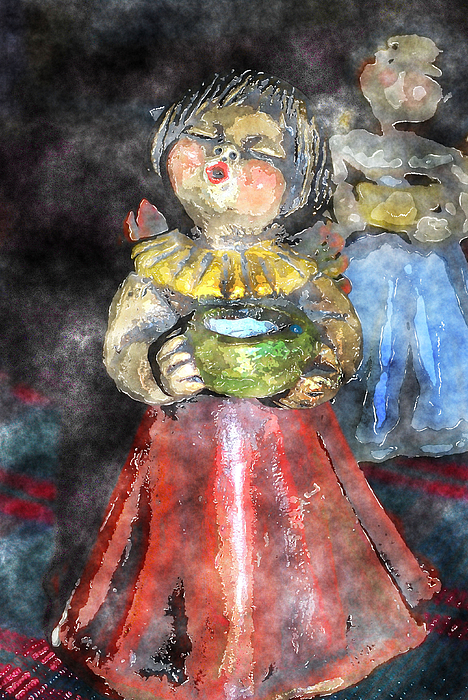 Little Christmas Angel-abstract Print by Patricia Motley