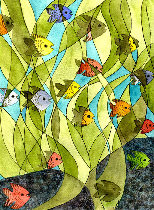 Little Fish Big Pond Print by Catherine G McElroy
