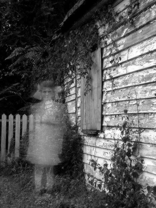 Little Girl Ghost Print by Melissa Wyatt