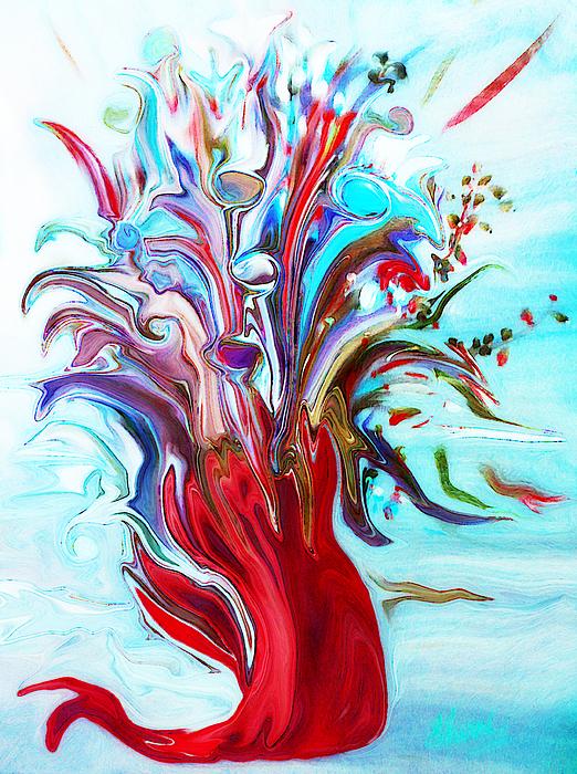 Sherri  Of Palm Springs - Abstract Little Mermaid Vase  by Sherriofpalmsprings