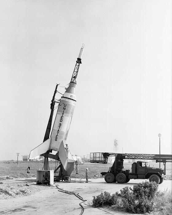 Little Joe On Launcher At Wallops Print by Stocktrek Images