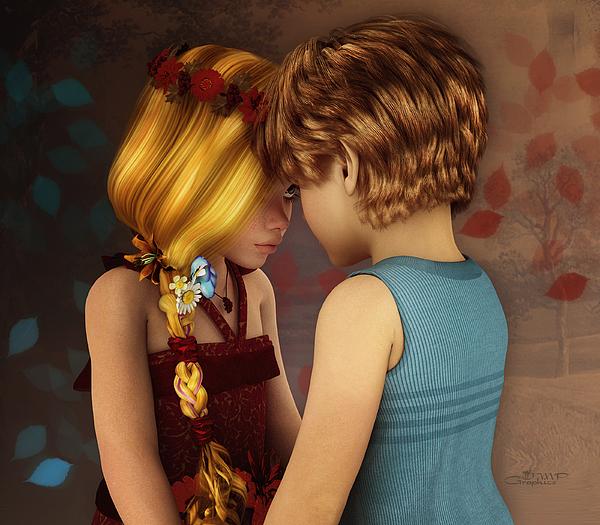 Little Romance Print by Jutta Maria Pusl