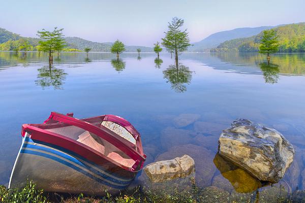 Little Rowboat Print by Debra and Dave Vanderlaan