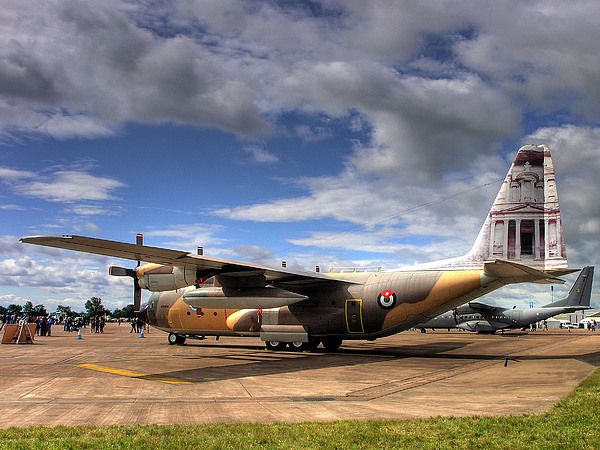 Lockheed C130h Of The Royal Jordanian Airforce. Print by Mike Lester