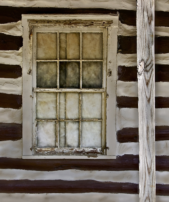 Log cabin window by murray bloom for Log cabin window
