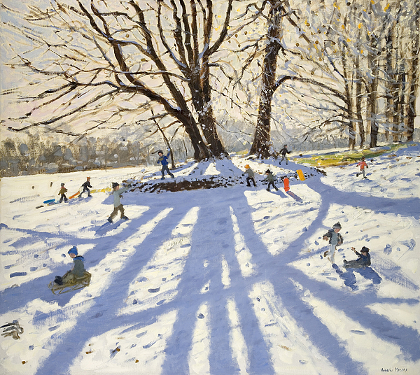 Lomberdale Hall Derbyshire Print by Andrew Macara