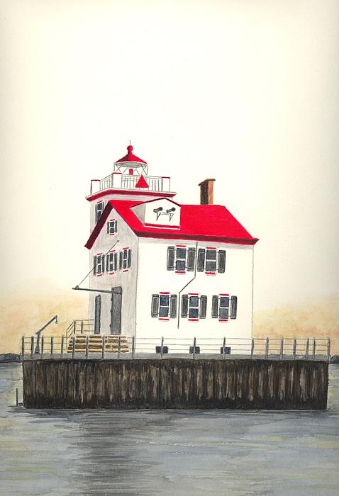 Lorain Lighthouse Print by Michael Vigliotti