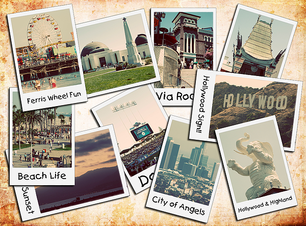 Los Angeles Polaroid Collage Print by Ricky Barnard
