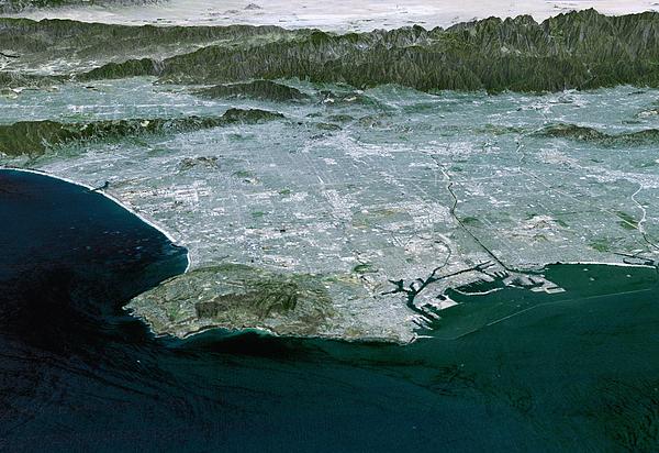 Los Angeles, Radar Image Print by NASA / Science Source