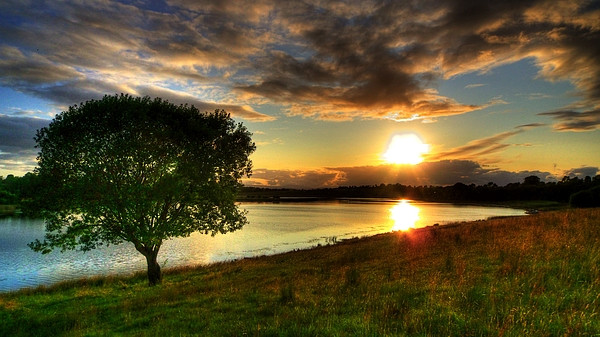 Lough Erne Sunset Print by Kim Shatwell-Irishphotographer