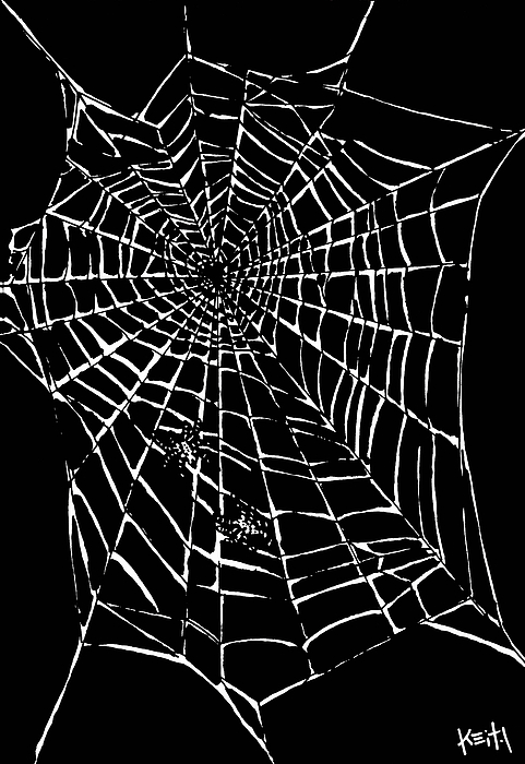 Love Is A Tangled Web Print by Keith QbNyc