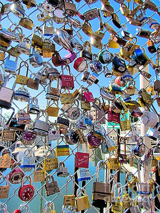 Elizabeth Dow - Love Lock Wall Portland Maine