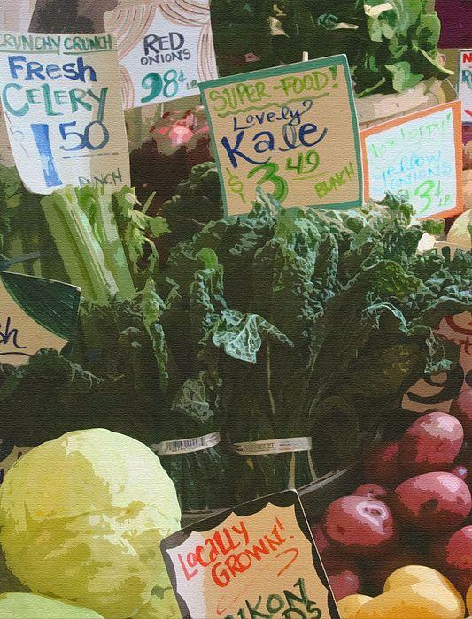 Lovely Kale Print by Lydia L Kramer