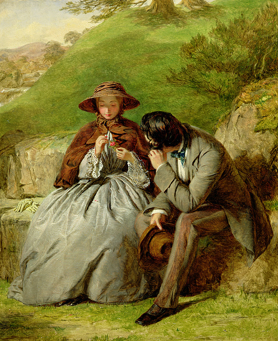 Lovers Print by William Powell Frith