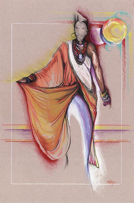 Lpr Black Woman Print by Anthony Burks Sr