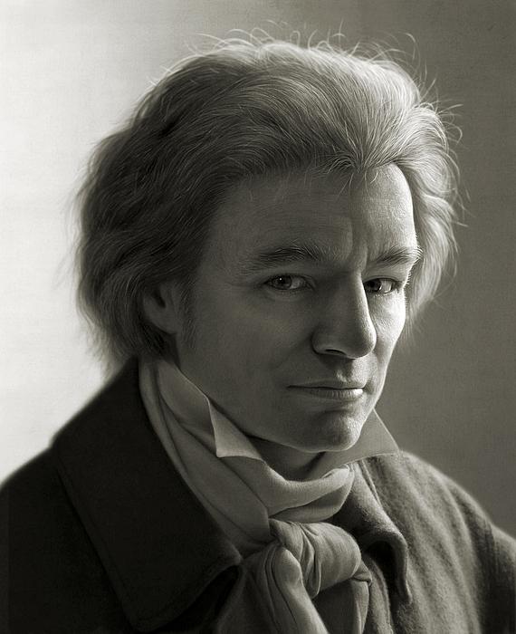 Ludwig Van Beethoven Print by Dirk Dzimirsky