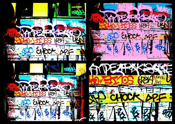 Lyon Graffiti Walls Print by Funkpix Photo Hunter