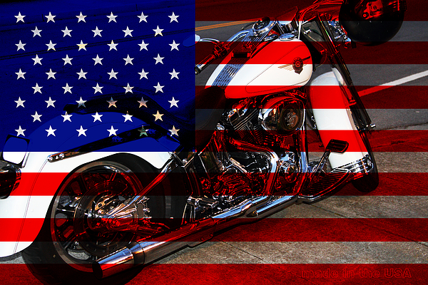 Made In The Usa . Harley-davidson . 7d12757 Print by Wingsdomain Art and Photography