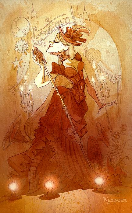 Mademoiselle Veronique Print by Brian Kesinger