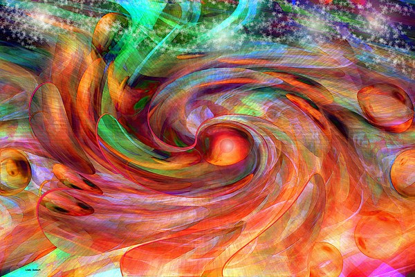 Magical Energy Print by Linda Sannuti