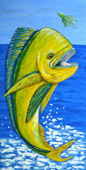 Mahi Mahi Print by JoAnn Wheeler