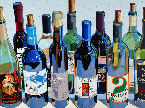 Make Mine Virginia Wine Number Three Print by Christopher Mize
