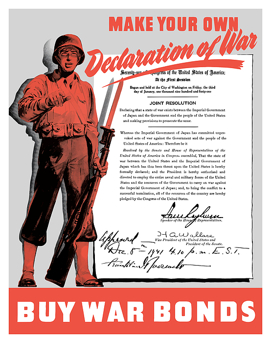 Make Your Own Declaration Of War Print by War Is Hell Store