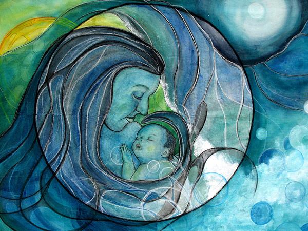 Makuahine-mother Print by Kimberly Kirk
