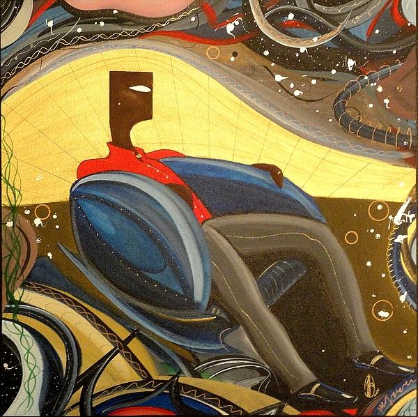 Man In Chair 2 Print by John Lyes