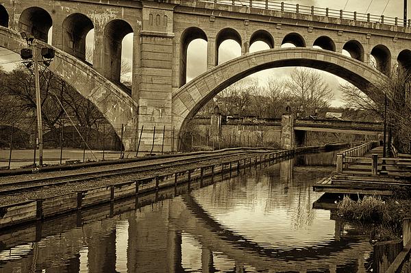 Manayunk Bridge Reflection Print by Jack Paolini