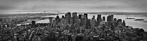 Manhattan Cityscape Print by Andreas Freund