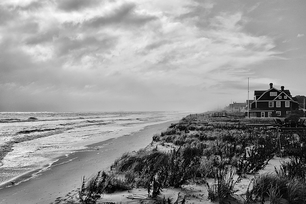 Mantoloking Beach - Jersey Shore Print by Angie Tirado