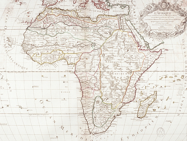Map Of Africa Print by Fototeca Storica Nazionale